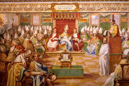 Council of Nicaea 325, 1590 fresco from Sistina, Vatican