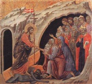 """""""Christ in Limbo"""" by Duccio di Buoninsegna"""